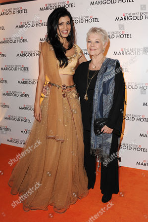 'The Best Exotic Marigold Hotel' Premiere at the Curzon Mayfair Tina Desai and Judi Dench