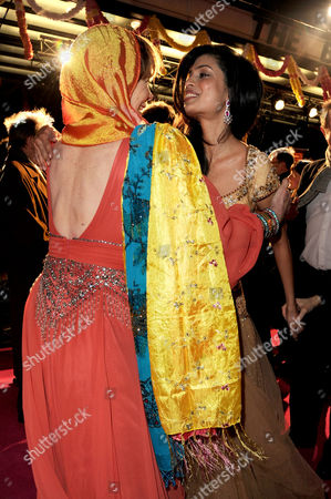 'The Best Exotic Marigold Hotel' Premiere at the Curzon Mayfair Celia Imrie Greets Tina Desai