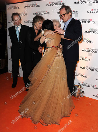 'The Best Exotic Marigold Hotel' Premiere at the Curzon Mayfair Ronald Pickup Tina Desai Judi Dench Penelope Wilton and Bill Nighy
