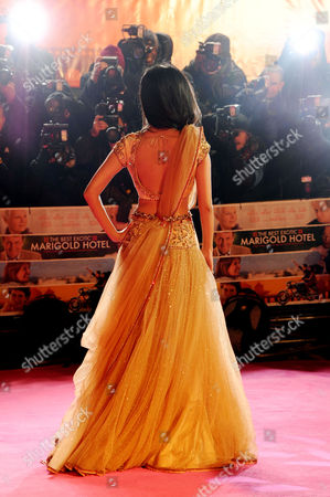 Stock Picture of 'The Best Exotic Marigold Hotel' Premiere at the Curzon Mayfair Tina Desai