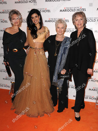 'The Best Exotic Marigold Hotel' Premiere at the Curzon Mayfair Diana Hardcastle Tina Desai Judi Dench and Penelope Wilton