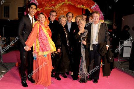 'The Best Exotic Marigold Hotel' Premiere at the Curzon Mayfair Dev Patel Celia Imrie Tom Wilkinson Diana Hardcastle Tina Desai Judi Dench Ronald Pickup Penelope Wilton and John Madden