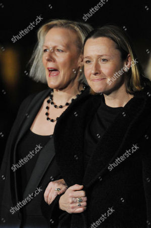 Stock Image of 'The Iron Lady' European Premiere Outside Arrivals at the Bfi Southbank Centre Phyllida Lloyd with Her Partner Sarah Cooke