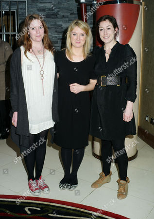 Stock Image of 'The Volunteer' Documentary Screening About the Issues Still Being Faced by Haiti at the Courthouse Hilton Hotel Great Malborough Street Soho Olivia Llewellyn Arabella Llewellyn and Their Cousin Natasha Llewellyn (r)