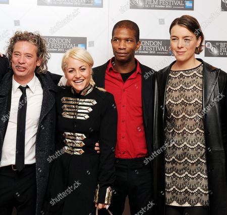 'Wild Bill' Red Carpet During the 55th Bfi London Film Festival at the Vue Leicester Square Cast - Dexter Fletcher (director) Jaime Winstone Mark Monero and Olivia Williams