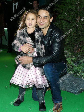 Stock Photo of 'Yogi Bear in 3d' Uk Gala Screening in Association with the Variety Club Children's Charity at the Vue Cinema Leicester Square Yousseph 'Chico' Slimani with His Daughter Lalla-khira