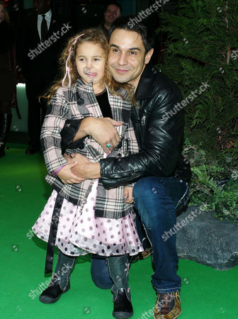 Stock Image of 'Yogi Bear in 3d' Uk Gala Screening in Association with the Variety Club Children's Charity at the Vue Cinema Leicester Square Yousseph 'Chico' Slimani with His Daughter Lalla-khira