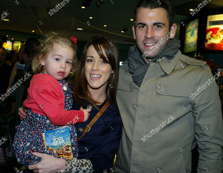 'Yogi Bear in 3d' Uk Gala Screening in Association with the Variety Club Children's Charity at the Vue Cinema Leicester Square Nicola Tappenden with Fiance Simon Walton and Daughter Poppy Walton