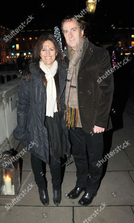10th Anniversary Winter Party For Somerset House's Ice Rink Hosted by Tiffany's at Somerset House the Strand Angus Deayton and Lise Mayer