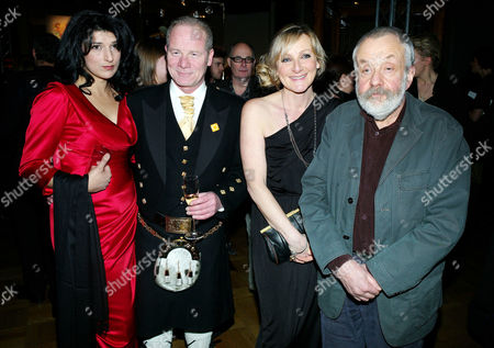 2011 Evening Standard British Film Awards at the London Film Museum County Hall Southbank Robina Qureshi Peter Mullen Lesley Sharp and Mike Leigh