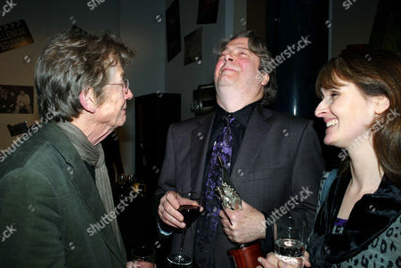 2011 Evening Standard British Film Awards at the London Film Museum County Hall Southbank John Hurt and Roger Allam with His Wife Rebecca Saire