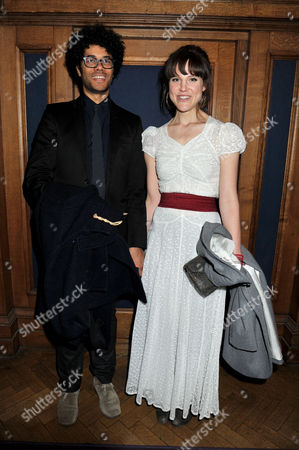 39th Evening Standard Film Awards at County Hall Southbank Richard Ayoade with His Wife Lydia Fox