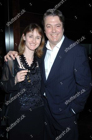 Afterparty For 'Bluebird' at the Mint Leaf Restaurant Roger Allam with His Partner Rebecca Saire