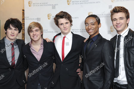 British Academy of Film and Television Children Awards Arrivals at the Hilton Park Lane House of Anubis - Brad Kavanagh Bobby Lockwood Eugene Simon Alex Sawyer and Burkley Duffield