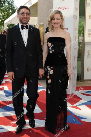 Arqiva 2012 British Academy Television Awards - Arrivals Melissa George with Her Boyfriend Jean-david Blanc