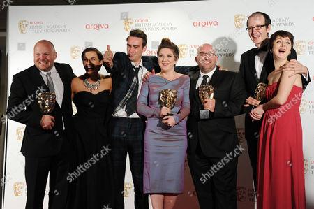 Arqiva 2012 British Academy Television Awards - Press Room 'This is England '88' Winner of Best Mini Series - Mark Herbert Vicky Mcclure Joseph Gilgun Rebekah Wray-rogers Shane Meadows Jack Thorne Rosamund Hanson