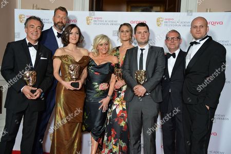 British Academy Television Awards Press Room at the Theatre Royal Drury Lane Best Situation Comedy - 'Him and Her the Wedding' - Kenton Allen Richard Laxton Sarah Solemani Camille Coduri Lyndsay Robinson Stefan Golaszewski and Ricky Champ