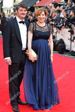 British Academy Television Awards at the Theatre Royal Drury Lane Katherine Parkinson with Her Husband Harry Peacock