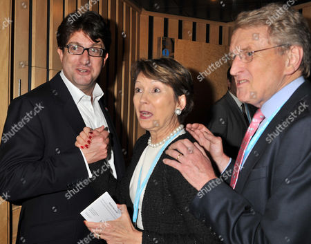 Bell Pottinger and Telegraph Parties During the Autumn Conservative Party Conference at the Icc Center Birmingham Lord Andrew Feldman and Sir Christopher Meyer with His Wife Catherine Meyer