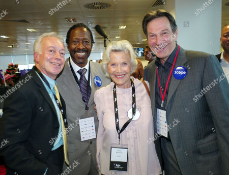 Bgc Partners Annual Charity Day at Churchill Place Canary Wharf Nikolas Grace Clarke Peters Honor Blackman and Michael Brandon (all Scope)