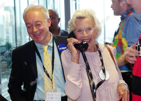 Bgc Partners Annual Charity Day at Churchill Place Canary Wharf Nikolas Grace and Honor Blackman (scope)