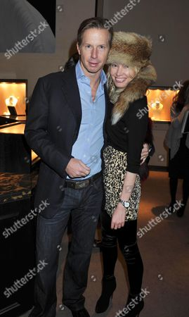 Stock Image of Book Launch of Invisible at Asprey New Bond Street Mayfair London Christopher Getty & Eva Fahler
