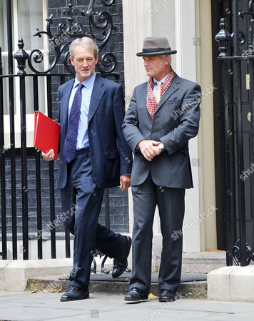 Cabinet Meeting at Number 10 Downing Street Westminster Rt Hon Owen Paterson Mp Secretary of State For Northern Ireland and Desmond Swayne Mp (pm's Pps)
