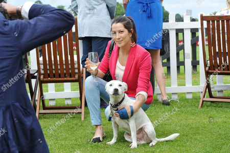 Cartier Queens Cup Polo at Smiths Lawn Windsor Princess Tamara Czartoryski Borbon with Her Dog Boon