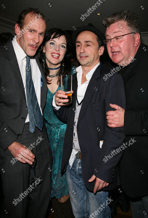 Change of Cast Party For 'The 39 Steps' at Franco's Jermyn Street New Cast Members - Simon Paisley Day Josefina Gabrielle and Martyn Ellis with Simon Gregor