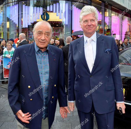'Chariots of Fire' Great British Premiere at the Empire Leicester Square Mohamed Fayed and Michael Cole