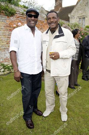 Annual Charity Cricket Match in Aid of Wellbeing of Women Drinks Reception and Lunch at Chippinghurst Manor Sir Vivian Richards and Gordon Greenidge