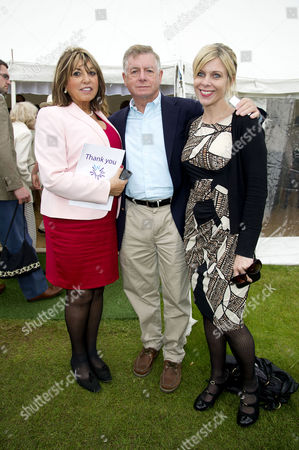Annual Charity Cricket Match in Aid of Wellbeing of Women at the Wormsley Park Estate in Buckinghamshire After Flooding Changed the Location From Chippinghurst Manor Sir Nick Lloyd with His Wife Lady Eve Lloyd and His Daughter Rachel Lloyd