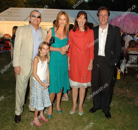 Conservative Summer Party Held in the Grounds of the Royal Hospital Chelsea Johnny Elichaoff and Trinny Woodall with David & Samantha Cameron