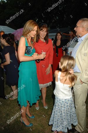 Conservative Summer Party Held in the Grounds of the Royal Hospital Chelsea Trinny Woodall with Her Husband Johnny Elichaoff and Samantha Cameron