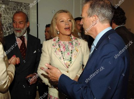 Stock Photo of Country Life Magazine Hold A Tea Party at Browns Hotel Albermare Street London to Launch Their Latest Issue Prince & Princess Michael of Kent & Clive Aslet