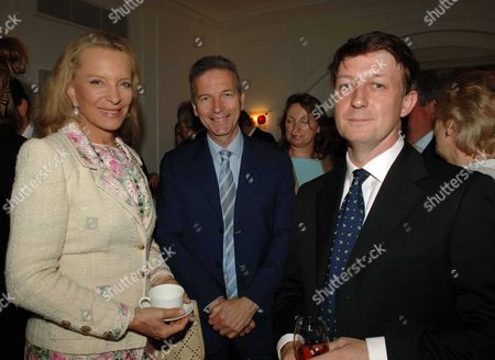 Country Life Magazine Hold A Tea Party at Browns Hotel Albermare Street London to Launch Their Latest Issue Princess Michael of Kent with Clive Aslet & the Magazines Editor Mark Hedges