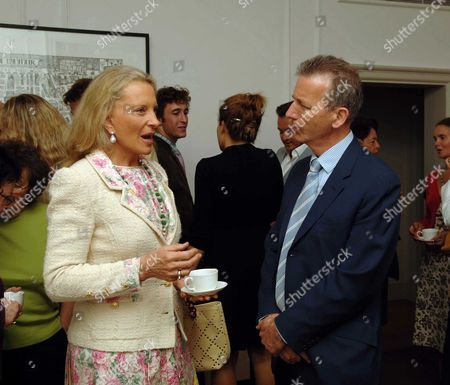 Country Life Magazine Hold A Tea Party at Browns Hotel Albermare Street London to Launch Their Latest Issue Princess Michael of Kent & Clive Aslet