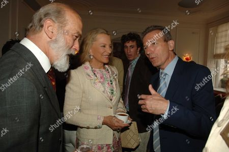 Country Life Magazine Hold A Tea Party at Browns Hotel Albermare Street London to Launch Their Latest Issue Prince & Princess Michael of Kent & Clive Aslet