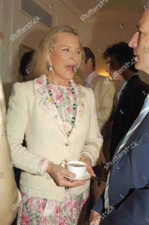 Stock Picture of Country Life Magazine Hold A Tea Party at Browns Hotel Albermare Street London to Launch Their Latest Issue Princess Michael of Kent & Clive Aslet