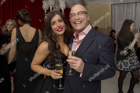 Stock Image of English National Ballet's Nutcracker Reception at the London Coliseum Gregg Wallace with Girlfriend Anne-marie Sterpini