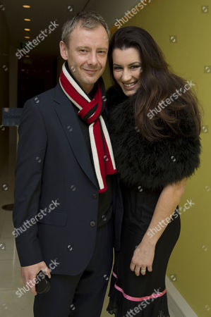 English National Ballet's Nutcracker Reception at the London Coliseum John Simm with His Wife Kate Magowan