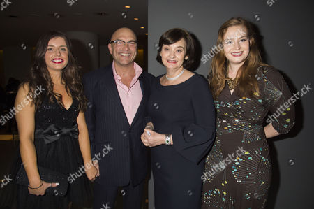 English National Ballet's Nutcracker Reception at the London Coliseum Gregg Wallace with Girlfriend Anne-marie Sterpini and Cherie Blair with Her Daughter Kathryn