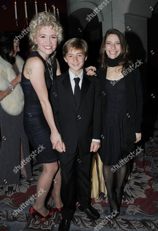 Evening Standard Theatre Awards 2010 at the Savoy Hotel Scarlett Strallen and Elena Roger with Laurence Belcher