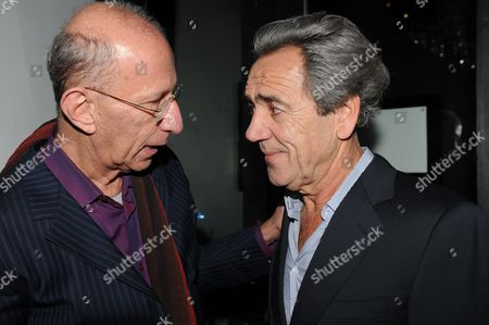 First Night Afterparty For 'Onassis' at Jewel Maiden Lane Convent Garden London Robert Lindsay (onassis) with Martin Sherman the Writer
