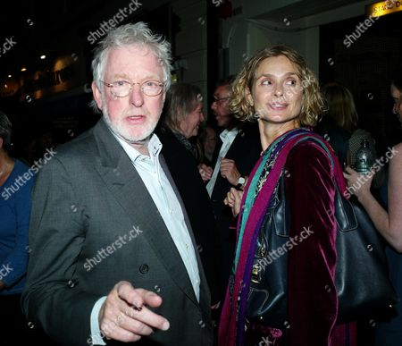 First Night For 'Krapp's Last Tape' at the Duchess Theatre and Afterparty at Mint Leaf Lounge Lothbury Bank Hugh Hudson with His Wife Maryam D'abo