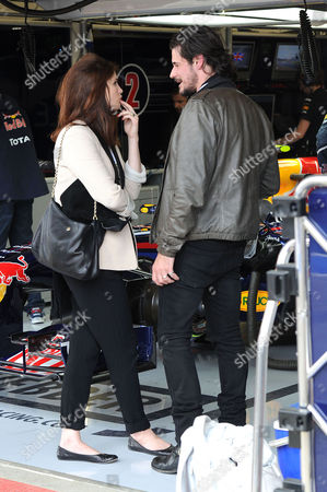 Formula 1 Santander British Grand Prix Race Day at Silverstone Gemma Arterton with Her Husband Stefano Catelli