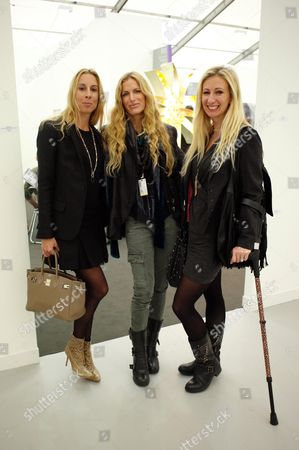Private View at Frieze Art Fair Regents Park London Hayley Sieff Laura & Jenny Halpern Prince