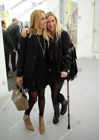 Private View at Frieze Art Fair Regents Park London Hayley Sieff & Jenny Halpern Prince