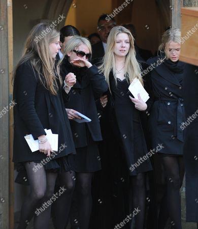 Funeral at St Mary's Church Coddenham Suffolk Octavia Anstruther-gough-calthorpe Arabella Llewellyn Olivia Llewellyn & Gabriella Anstruther-gough-calthorpe