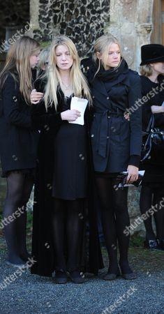 Funeral at St Mary's Church Coddenham Suffolk Olivia Llewellyn & Gabriella Anstruther-gough-calthorpe
